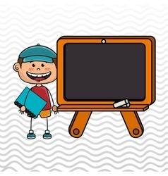 student board chalk school vector image