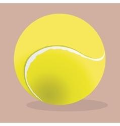 Tennis ball realistic Sport vector image vector image
