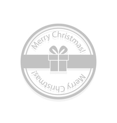 Christmas gift box stamp vector image vector image