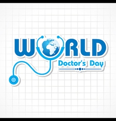 Creative National Doctors Day Greeting Card Stock vector image
