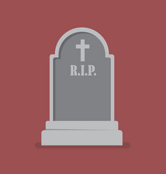 Graveyard flat style icon vector