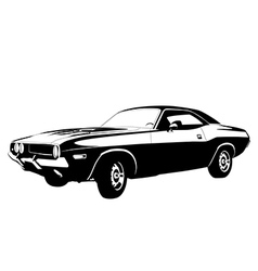 muscle car profile vector image vector image