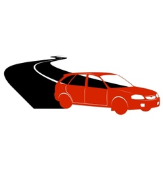 Passenger car on the road vector image vector image