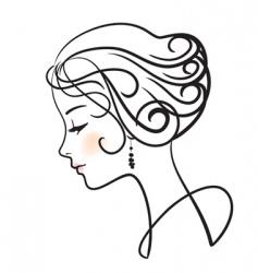 woman face vector image