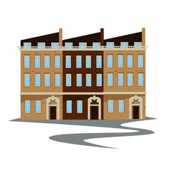 1900s style apartment building or townhouse vector