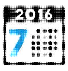 2016 week calendar halftone icon vector image