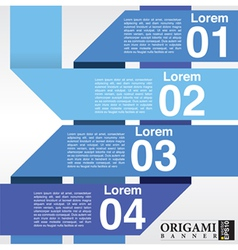 Abstract blue banners in four step EPS10 vector