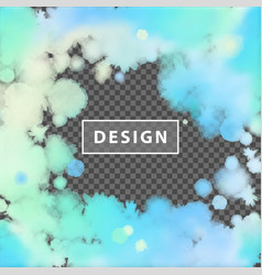 Abstract watercolor frame vector