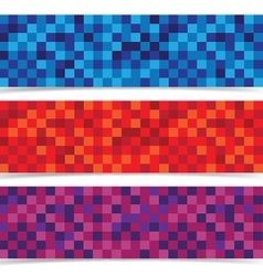 abstracts mosaic banner header background vector image