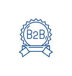 B2b line icon concept flat symbol vector