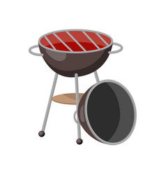 barbecue party grill cartoon vector image