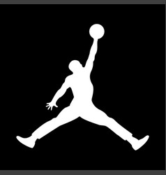 basketball player it is the white color icon vector image