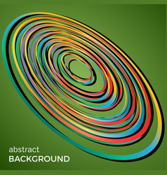 beautiful light circles on a green background vector image