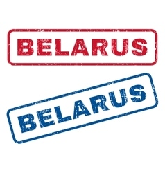 Belarus rubber stamps vector