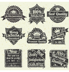 Best Quality and Guarantee Labels vector