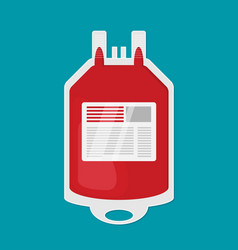 blood transfusion plastic bag flat icon vector image