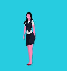 brunette businesswoman successful team worket vector image