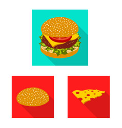 Burger and sandwich symbol vector
