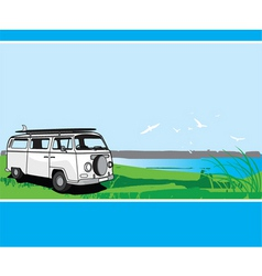 campervan tour vector image
