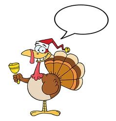 Chistmas turkey cartoon vector