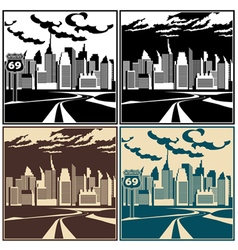 City and highway vector