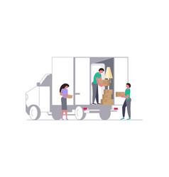 concept for transport company vector image