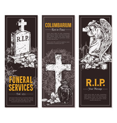 condolence card and advertising columbarium vector image