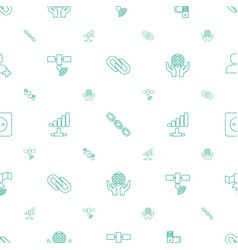 Connection icons pattern seamless white background vector