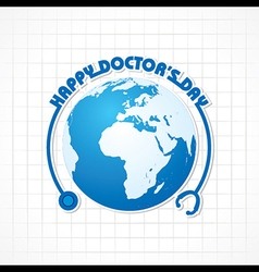 Creative National Doctors Day Greeting Card vector image
