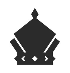 crown icon black symbol monarch and authority vector image