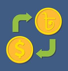 Currency exchange Dollar and Bengali Rupee vector image