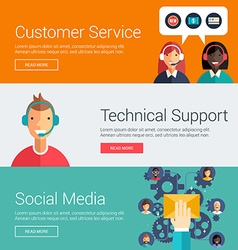 Customer service technical support social media vector