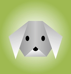 Dog from paper of origami vector