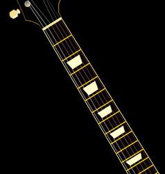 Electric guitar neck vector