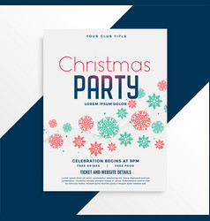 elegant christmas party flyer design with vector image
