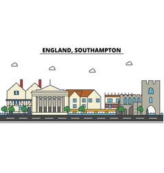 england southampton city skyline architecture vector image