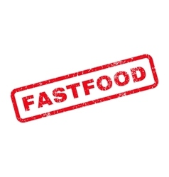 Fastfood text rubber stamp vector