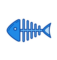 fishbone line icon vector image