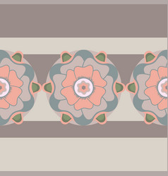 floral seamless pattern in pastel colors vector image