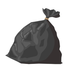 Full refuse plastic cartoon sack vector