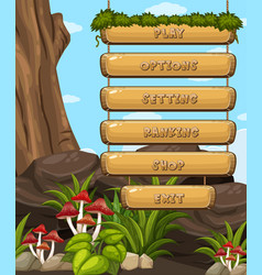 Game design with forest theme vector