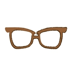 glasses vintage frame icon image vector image