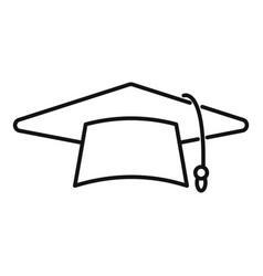 Graduate hat icon outline school college vector