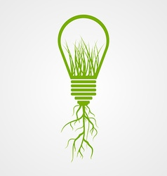 Green lamp ecology concept vector image