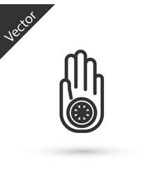 Grey line symbol jainism or jain dharma icon vector