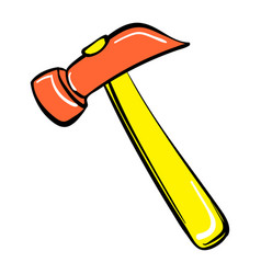 Hammer icon cartoon style vector