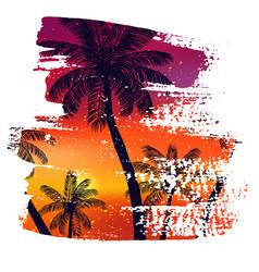 handmade poster on watercolor brush stroke vector image
