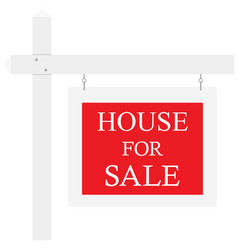 home for sale real estate sign isolated on white vector image