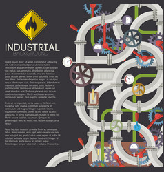 Industrial piping background vector