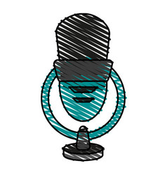 Isolated microphone ico vector